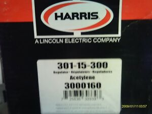 Harris Model 301 15 300 Acetylene Regulator