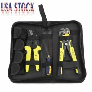 Wire Crimpers Engineering Ratcheting Terminal Crimping Pliers Stripper Tool Bp