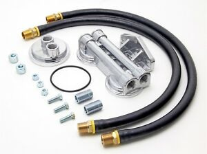 Trans dapt Dual Oil Filter Relocation Kit 18mm X 1 5 Threads W Bypass Adapter