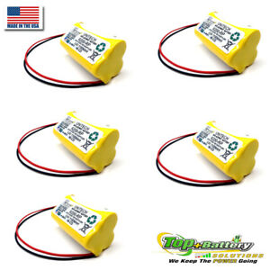 5pc Unitech 6200rp 3 6v Nicad Battery Replacement Emergency Exit Lighting
