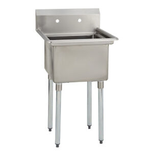 1 One Compartment Commercial Stainless Steel Utility Prep Mop Sink 23 X 29 8 G