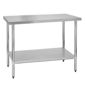 Stainless Steel Commercial Work Prep Table No Backsplash 24 X 24 G