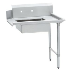 Commercial Kitchen Stainless Steel Soiled Dish Table Right Side 30 X 48 G