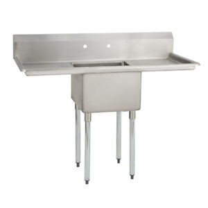 1 One Compartment Commercial Stainless Steel Prep Pot Sink 54 X 23 8 G