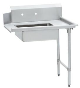 Commercial Kitchen Stainless Steel Soiled Dish Table Right Side 30 X 72 S s