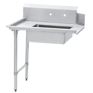 Commercial Kitchen Stainless Steel Soiled Dish Table Left Side 30 X 60 G