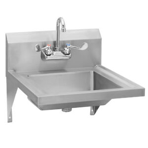 Stainless Steel Commercial Ada Compliant Hand Sink Splash Mount Faucet