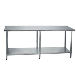 Stainless Steel Commercial Work Prep Table No Backsplash 24 X 84 G
