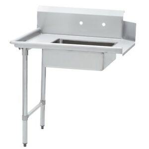 Commercial Kitchen Stainless Steel Soiled Dish Table Left Side 30 X 60 S s