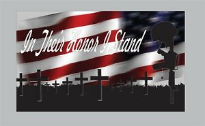 Stand For The Flag Fallen Soldiers Bumper Sticker Decal America Support