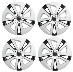 New 2016 2017 Toyota Prius 15 Silver Black Hubcap Wheelcover Set Of 4