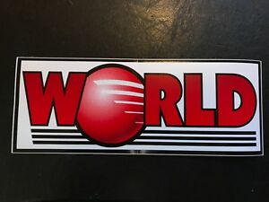 World Products Decal Racing Car Cylinder Heads Manifolds Engine Blocks Large