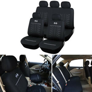9pcs Full Set Tire Tread Styling Car Interior Seat Covers Accessories Racing New