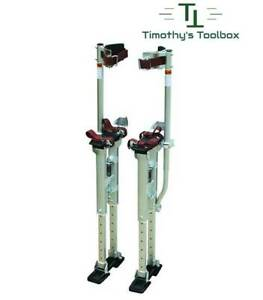 Contractor Plus Professional Dual Spring Aluminum Drywall Stilts 18 30 New