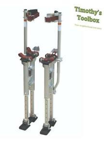 Contractor Plus Professional Dual Spring Aluminum Drywall Stilts 24 40 New