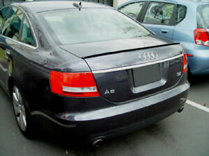 Usa Free Ship 2005 2009 Audi A6 S6 C6 4d Unpainted Trunk Lip Spoiler Wing New