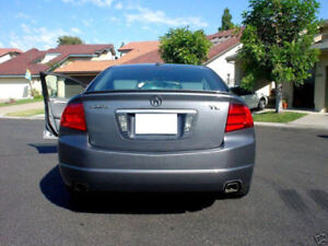 Usa Free Ship 2004 2008 Acura Tl Unpainted Trunk Lip Spoiler Wing Type S