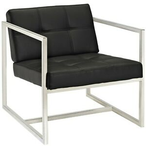 Hover Black Modern Reception Chair Home Lounge Office Seat Furniture