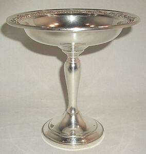 Sterling Silver Compote Strasbourg By Gorham 1140 With Weighted Base
