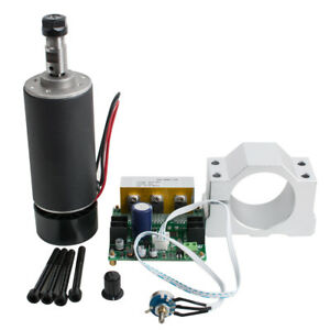 Cnc Spindle Motor 400w Er11 Mach3 Pwm Speed Controller mount Engraving Kit Usa