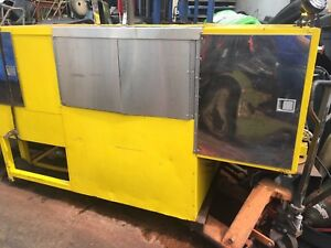 Disney World Food Cleaning Cart Stainless 10 Ft X 5 Foot Heated And Water Pump