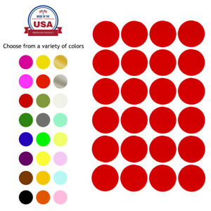 Dot Stickers Round Color Coding Labels 25mm 1 Inch Permanent Adhesive 120 Pack