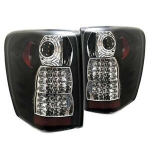 Pair Black Led Tail Lights Lamps Jeep Grand Cherokee 99 04 1 Year Warranty