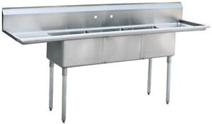 Atosa Mrsa 3 d 90 3 Compartment Sink Nsf Stainless Steel