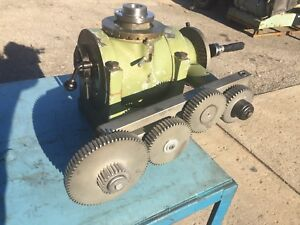 Rotary Table With Milling Machine Gear Drive Will Ship