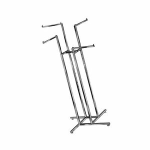 Clothing Rack Heavy Duty Chrome 4 Way Rack Adjustable Height Arms Square Tub