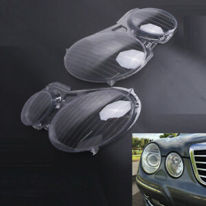 Car Headlight Clear Lens Cover Fit For Benz W211 E280 2002 2008 Usa