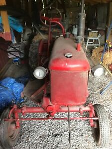 Farmall Cub Ih Tractor With Draw Bar Wheel Weights