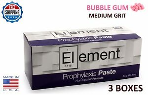 Element Prophy Paste Cups B Gum Medium Grit 200 box Dental W fluoride 3 Boxes