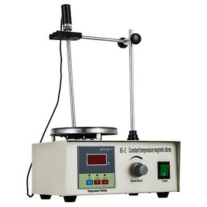85 2 Magnetic Stirrer With Heating Plate Digital Hotplate Mixer Stir Bar 1000ml