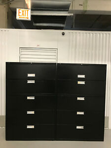 Hon 5 drawer Lateral File Cabinet 42 w 66 1 2 h 19 1 4 d No Keys