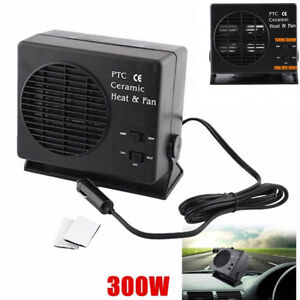 2 In 1 12v Car Van Vehicle Fan Heater Warmer Window Defroster Demister Universal