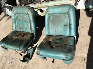 61 62 63 Thunderbird Front Bucket Seats Right Left Drivers Side Power Working Oe
