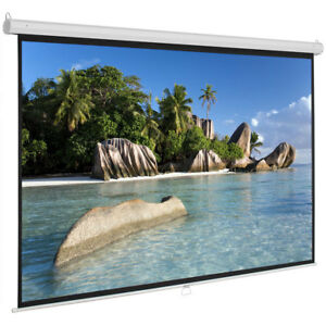 Hot 100 Projector Screen 16 9 Projection Hd Manual Pull Down Home Cinema