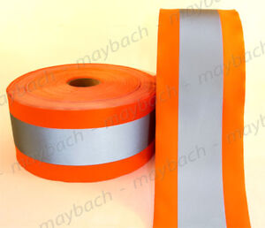 Reflective Material Fabric Tape Sew on 4 1 2 Ansi Ii Safety Orange