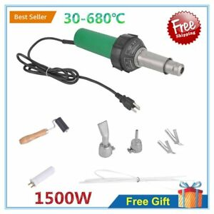 110v 1500w Hot Air Torch Plastic Welder Heat Gun Pistol Welding Kit 30 680 c Bp