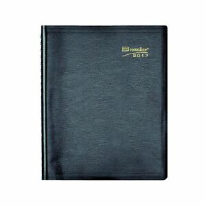Brownline 2017 Daily Planner Twin wire Black 11 X 8 50 Inches cb965 blk 17