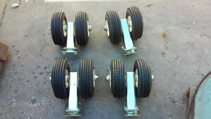 contact 4 S h Quote Lot Of 4 New 10 Dual Pneumatic Swivel Caster Heavy Duty