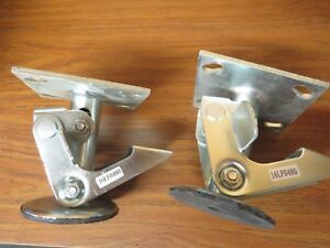 Lot Of 2 Albion 16lf0480g Floor Lock use W 4 In Caster Nice Used