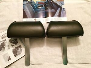 Original Factory 1969 Ford Mustang Seat Head Rests Boss 302 Gt Coupe Convert Fb