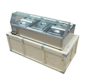 5 pan Bath Warmer Bain marie Buffet Food Warmer Steam Table 40 Stainless Steel