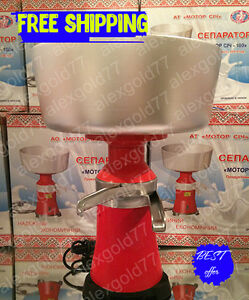 New Milk Cream Electric Centrifugal Separator Metal 100l h Eng Manual
