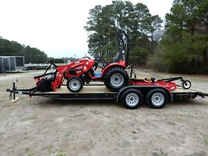 Tym 4x4 Hydrostatic Drive Tractor Loader Cutter Blade And Trailer