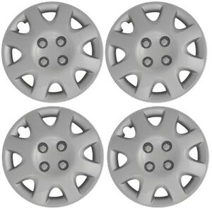 New 1998 2000 Honda Civic 14 8 Spoke Silver Hubcap Wheelcover Set Of 4