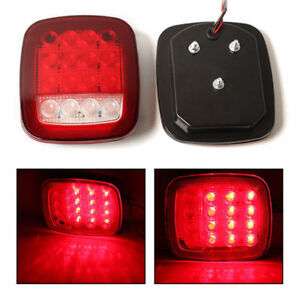 4x Red White Truck Trailer Led Stop Turn Tail Light For Jeep Wrangler Cj Yj