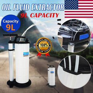 9l Vacuum Oil Fluid Extractor Transfer Pump Car Fuel Petrol Coolant Water Manual